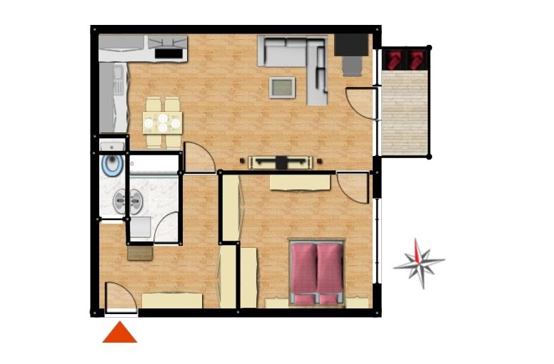 2D plánek nemovitosti
